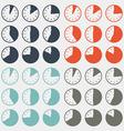 Flat Design Clock Set vector image