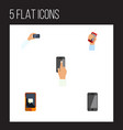 flat icon phone set of cellphone telephone vector image vector image