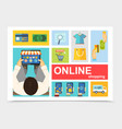 flat online shopping composition vector image vector image