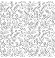 Floral seamless pattern with flowers and plants vector image vector image