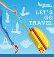 Go travel vector image