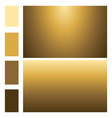 golden color set with gradients vector image