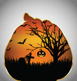 Halloween background pumpkin cut out shape vector image vector image