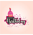 happy birthday template design vector image vector image