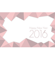 happy new year 2016 Rose Quartz vector image vector image