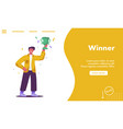 landing page winner concept vector image
