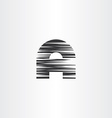 letter a black scratched icon vector image vector image