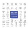 line icons set college vector image vector image
