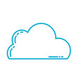 line nice cloud natural weather design vector image vector image