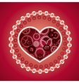 love concept in steam punk style vector image
