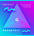 minimal geometric background dynamic shapes vector image