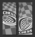 monochrome banners for chess vector image vector image