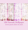 old damask ornament set backgrounds vector image vector image