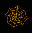 Orange gradient halloween holiday spider web flat vector image