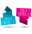 origami banner-boy-girl-announcement