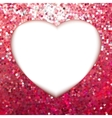 Pink Gold frame in the shape of heart EPS 8 vector image vector image