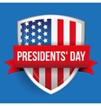 Presidents day on USA flag shield vector image vector image