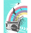 radio rainbow vector image vector image