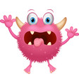 red monster cartoon vector image vector image