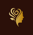 rose lady logo vector image vector image