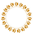 round frame paws vector image vector image