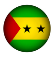 Sao Tome and Principe flag button vector image vector image