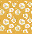 seamless chamomile pattern on yellow background vector image vector image