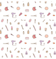 Seamless pattern of make up set vector image vector image
