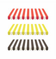 set of colorful striped awnings for shop vector image