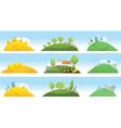 Set of farm landscapes vector image