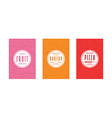 Set of template labels for bakery vector image vector image