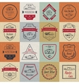 Set of Vintage Car Badges and Sign vector image