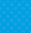 small hut pattern seamless blue vector image vector image