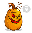 smiley curved pumpkin vector image vector image