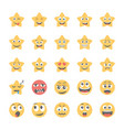 smiley flat icons set 42 vector image vector image