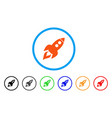 space rocket launch rounded icon vector image vector image