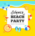 summer time summer beach party vector image vector image
