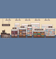 supermarket interior flat vector image