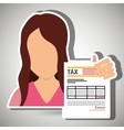 tax debtor design vector image