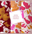 teddy bear seamless pattern jelly-bear vector image vector image