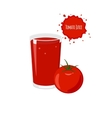 tomato juice with ripe tomato isolated vector image vector image