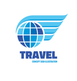 Travel - logo concept vector image