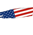 usa or america flag isolated on white background vector image vector image