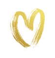 valentine gold heart hand drawn icon vector image