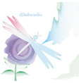 watercolor flower card decoration design vector image vector image