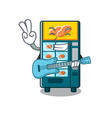 with guitar bakery vending machine in a mascot vector image vector image