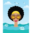woman on the sea or ocean vector image vector image
