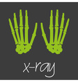 x-ray science design banner and background eps10 vector image vector image