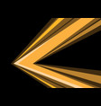 yellow arrow speed direction on black vector image vector image