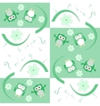 Cute seamless flower owl background pattern vector image
